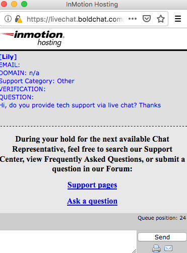 inmotionhosting.com support chat