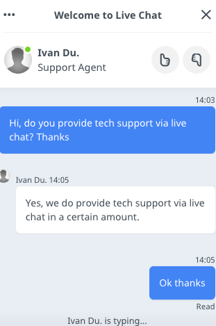 ITXDesign.com support chat