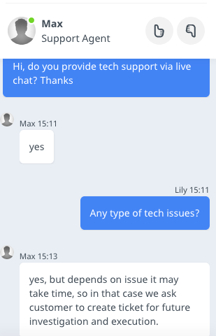 Host4ASP.NET support chat