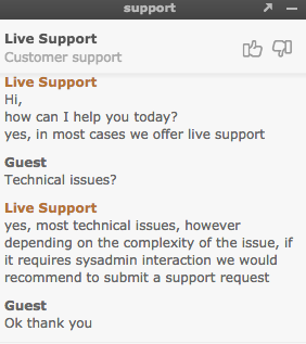 Euro-space.net support chat