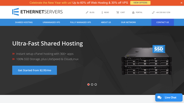 EthernetServers Rating, Uptime and Expert Review